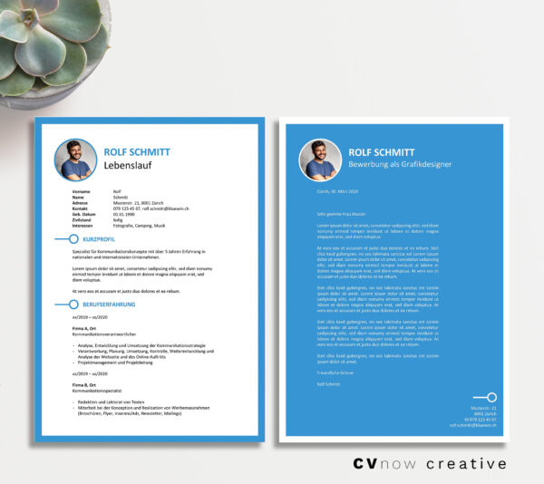 Bild CVnow Creative blau ms