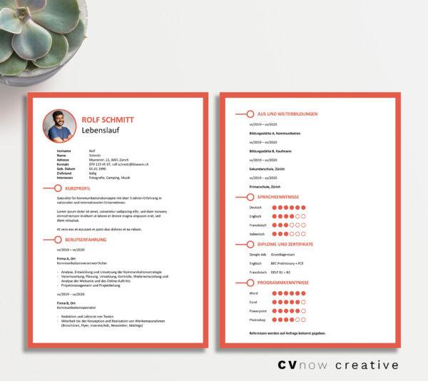 Bild CVnow Creative rot