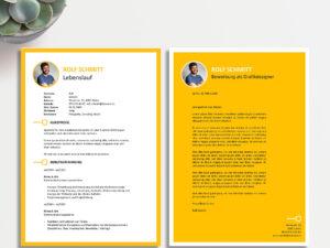 Bild Creative yellow Motivationsschreiben CVnow