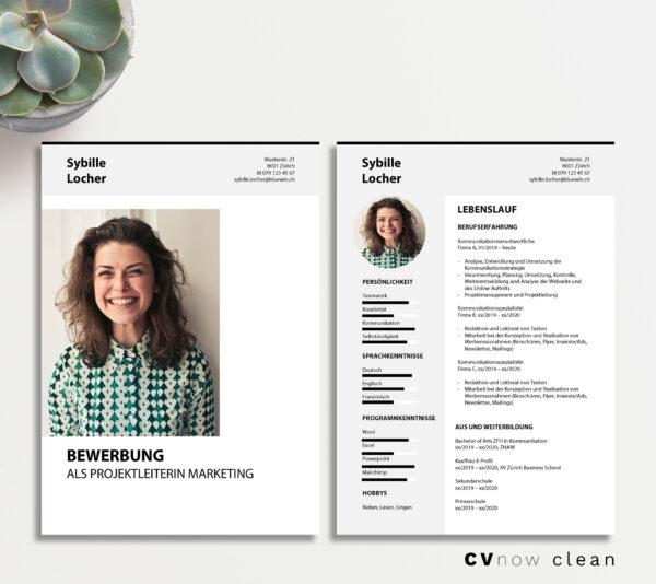 Bild CVnow Clean grau