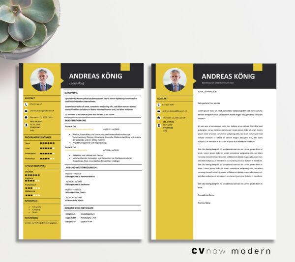 Bild CVnow Modern yellow